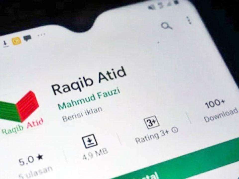 Aplikasi Raqib Atid pertama kali tersedia di Google Play Store pada 28 April 2020.