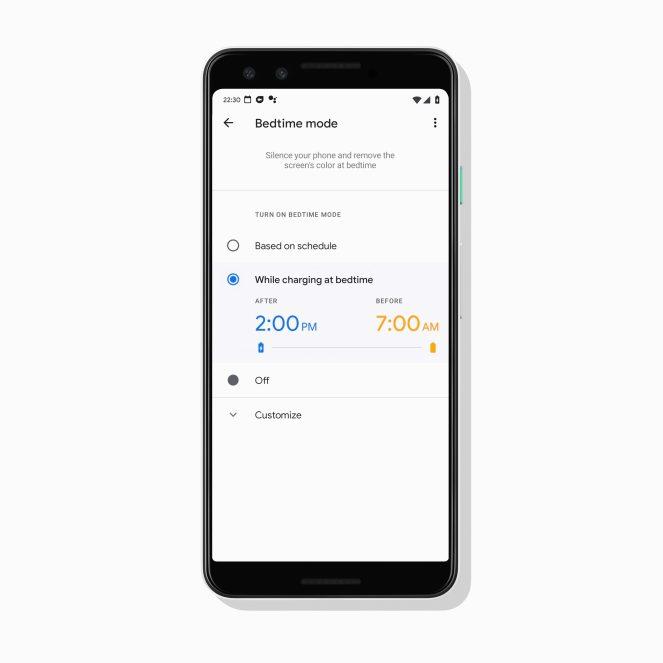 Pengaturan Bed Time pada Google Alarm.
