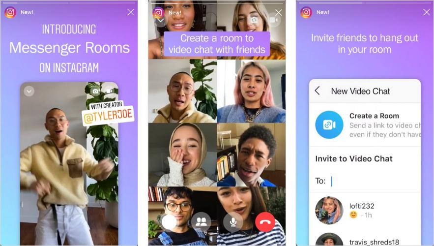 Video Call Instagram bisa untuk 50 orang tanpa batas waktu.