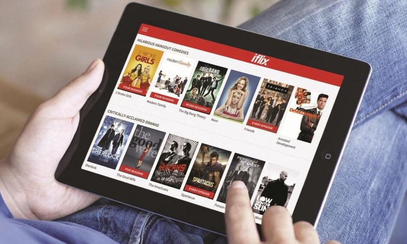 Ilustrasi iFlix, layanan streaming video yang berbasis di Malaysia