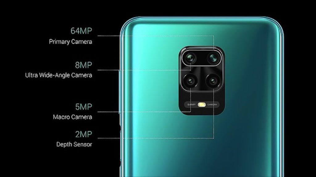 Susunan kamera Redmi Note 9 Pro. yakni 8 MP, 64MP, 5MP, 2MP