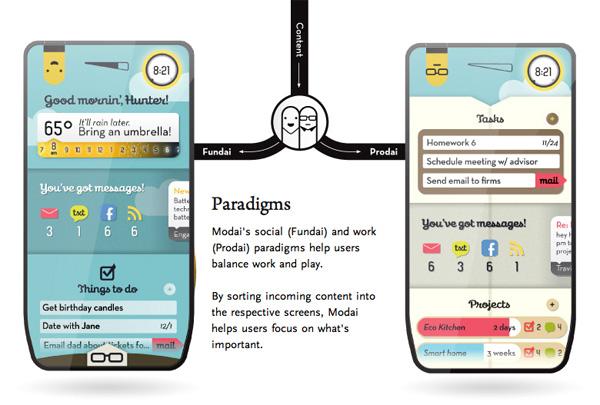 Ponsel Modai yang punya mode kerja dan personal life